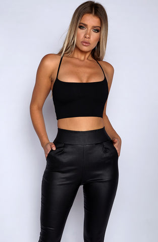Everyday Sinner Crop - Black