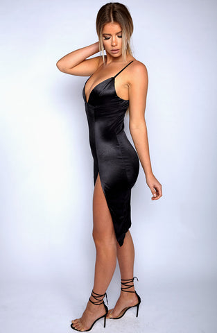 Slit to It dress - Black