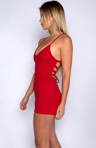 The Bae Playsuit - Red