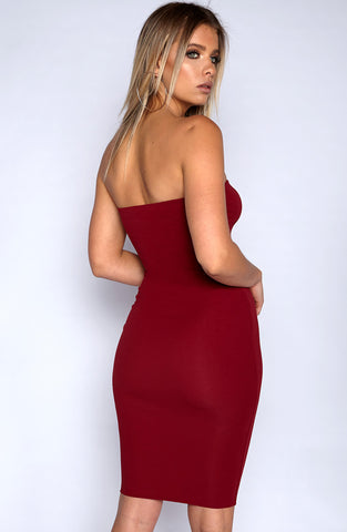 Zaria Dress - Wine