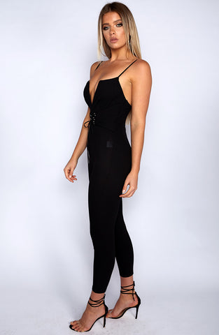 On the Prowl Jumpsuit - Black