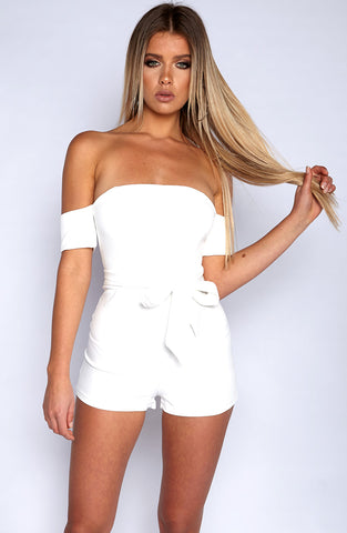 Lust me Playsuit - White