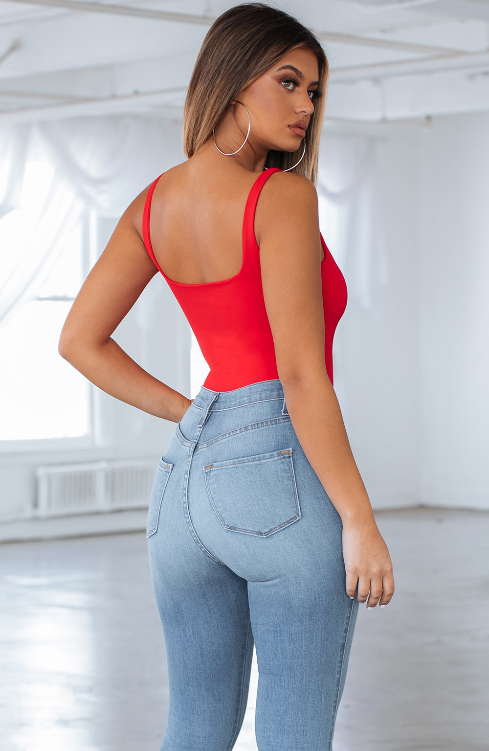 Amaya bodysuit-Red