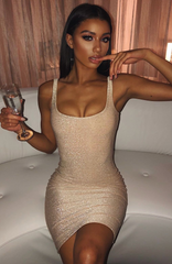 Jada Dress - Gold Sparkle