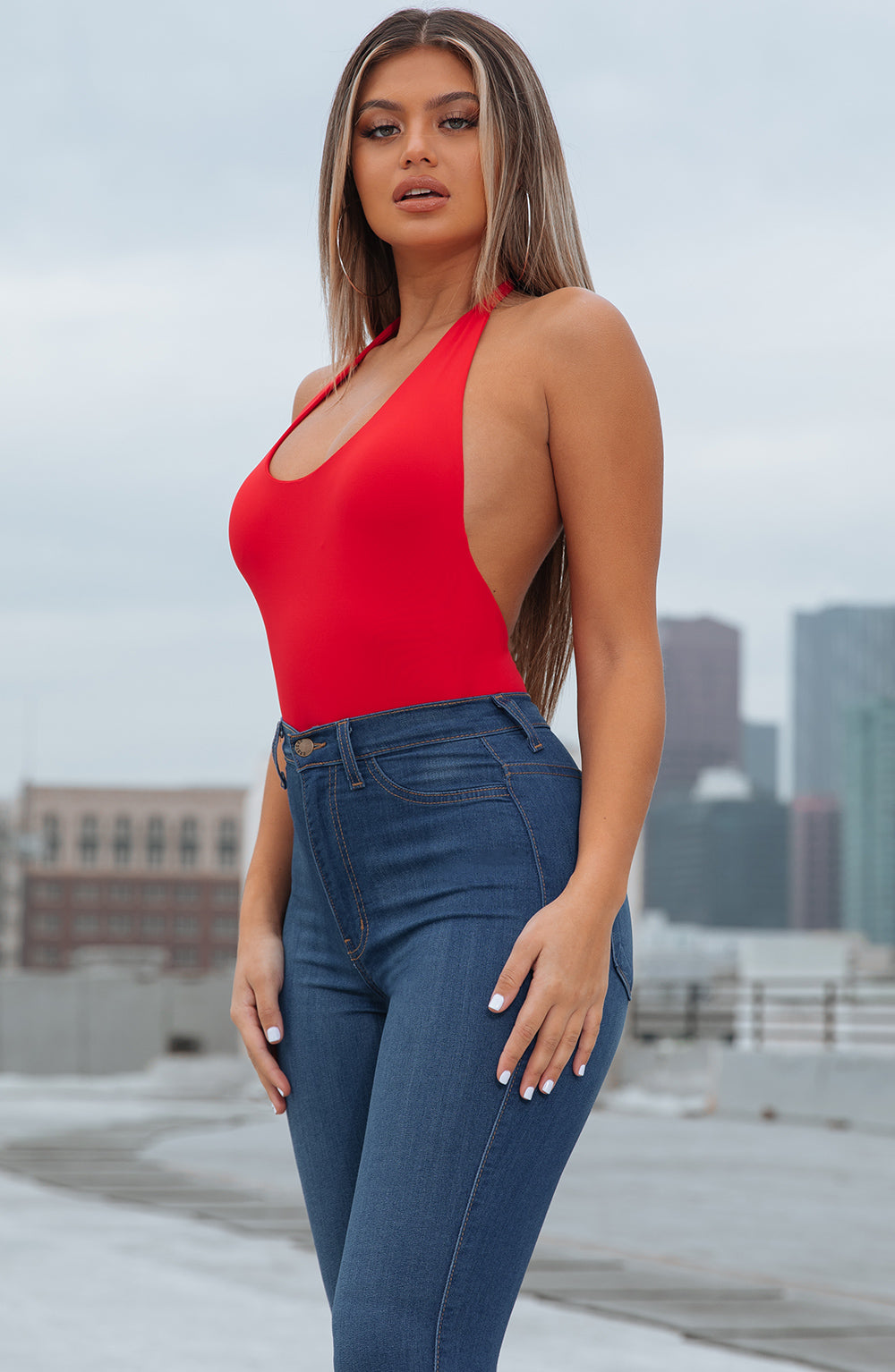 Naomi Bodysuit - Red