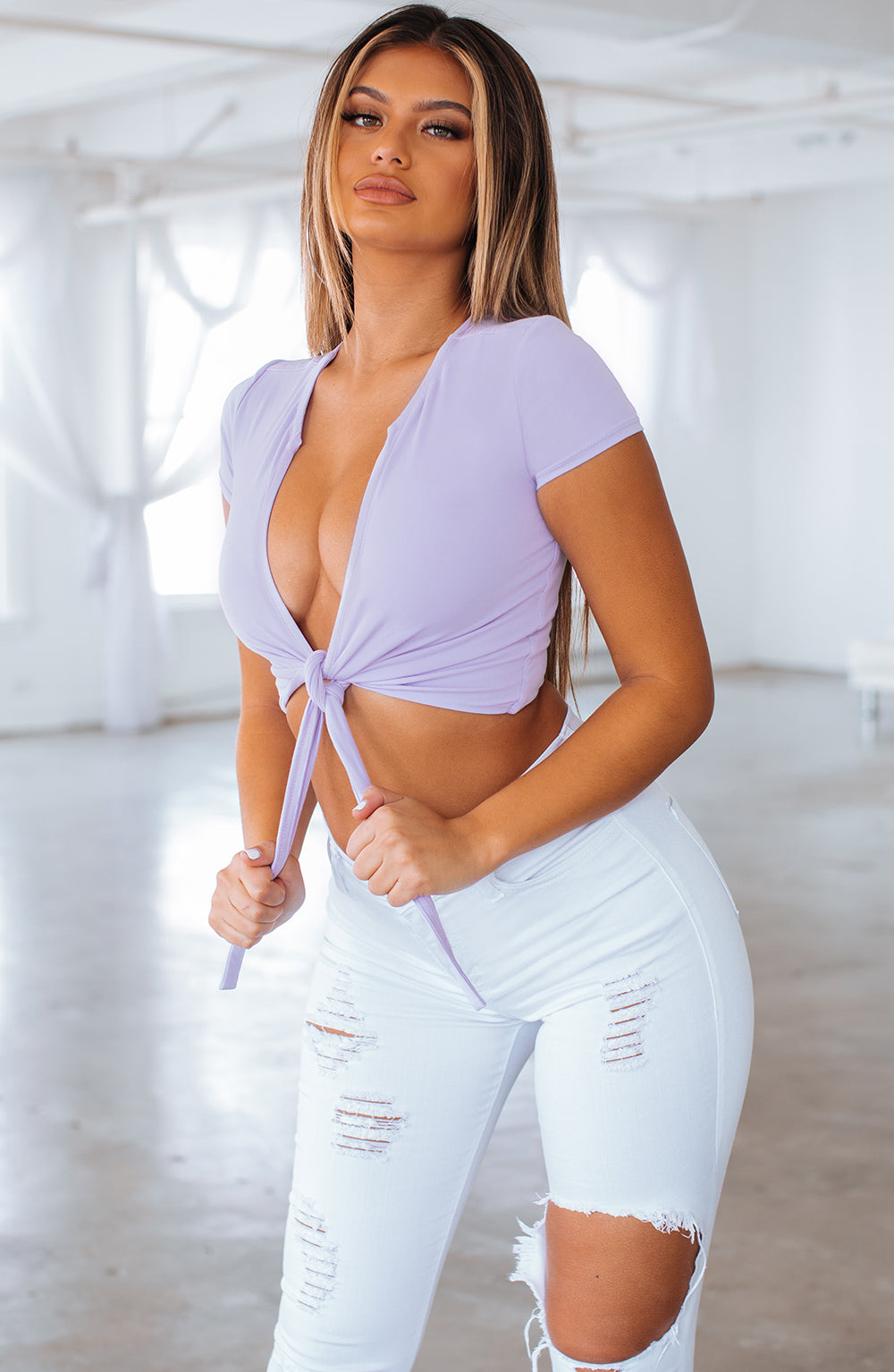 Ellie Top -  Lilac
