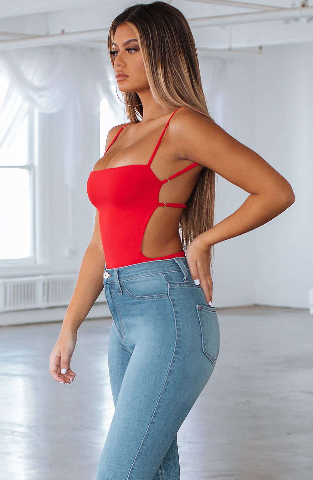 Camilla Bodysuit - Red