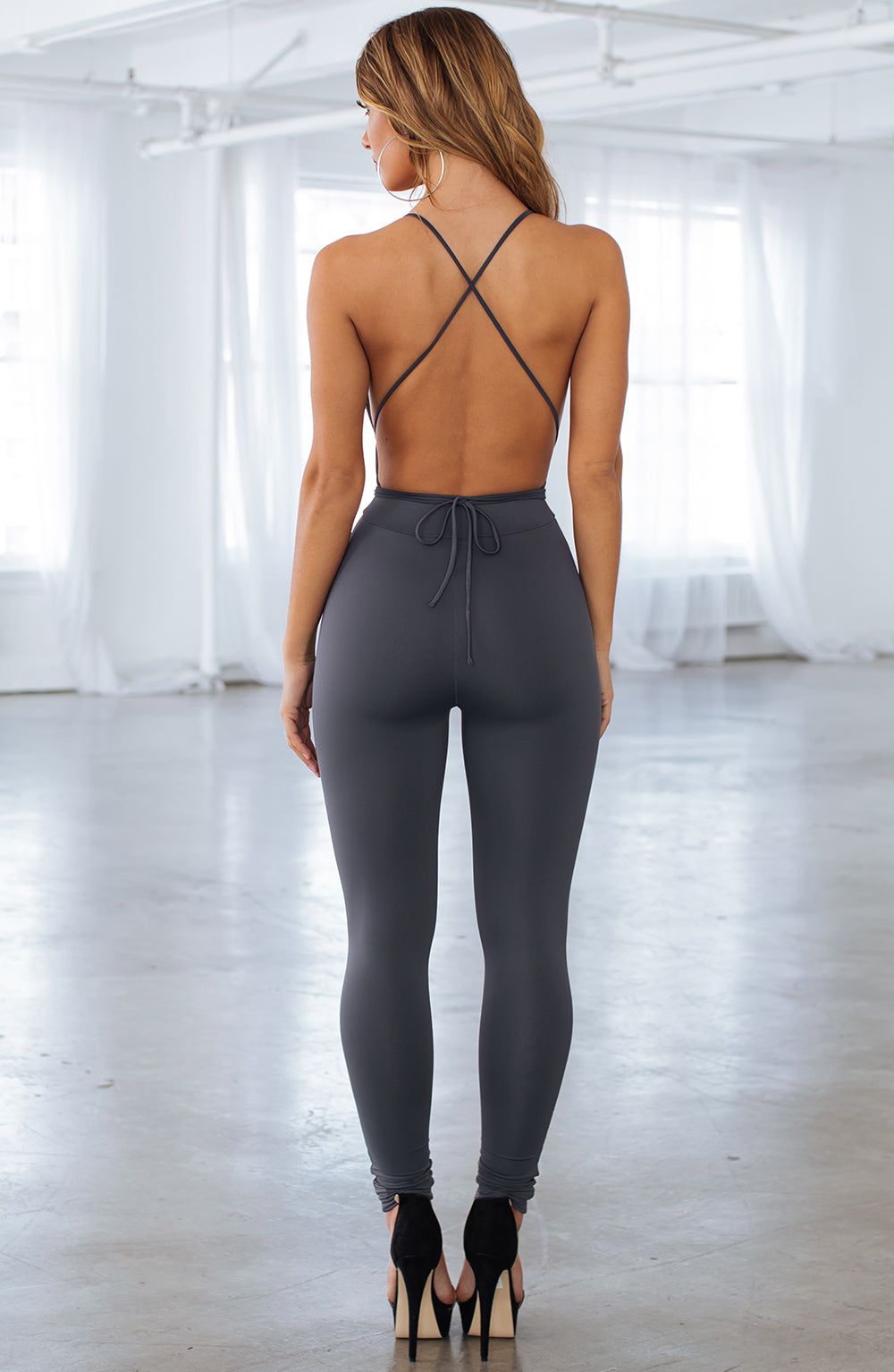Madison Jumpsuit - Charcoal
