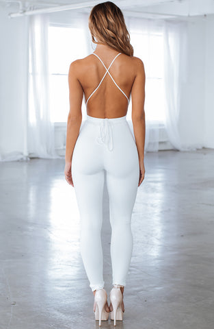 Madison Jumpsuit - White