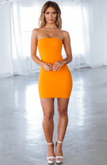 Tila Mini Dress - Orange