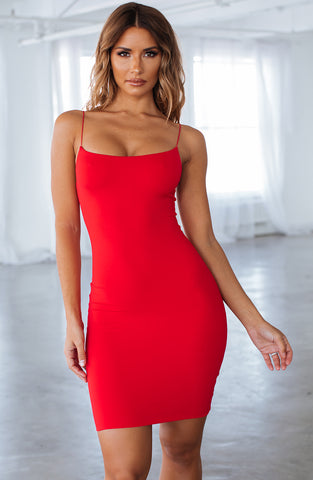 Aria Mini Dress - Red