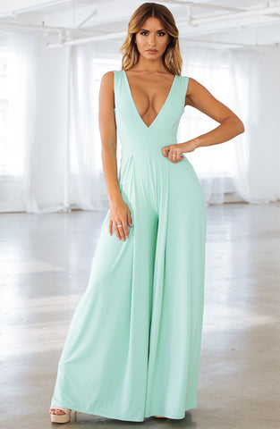 Skyla Jumpsuit - Mint