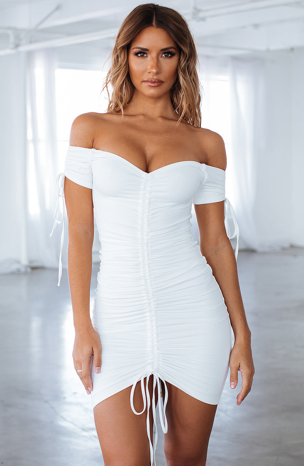 Samantha Mini Dress - White