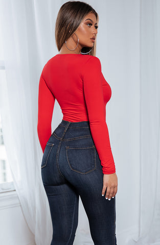 Cora Bodysuit - Red