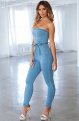 Kaylee Jumpsuit - Blue Denim