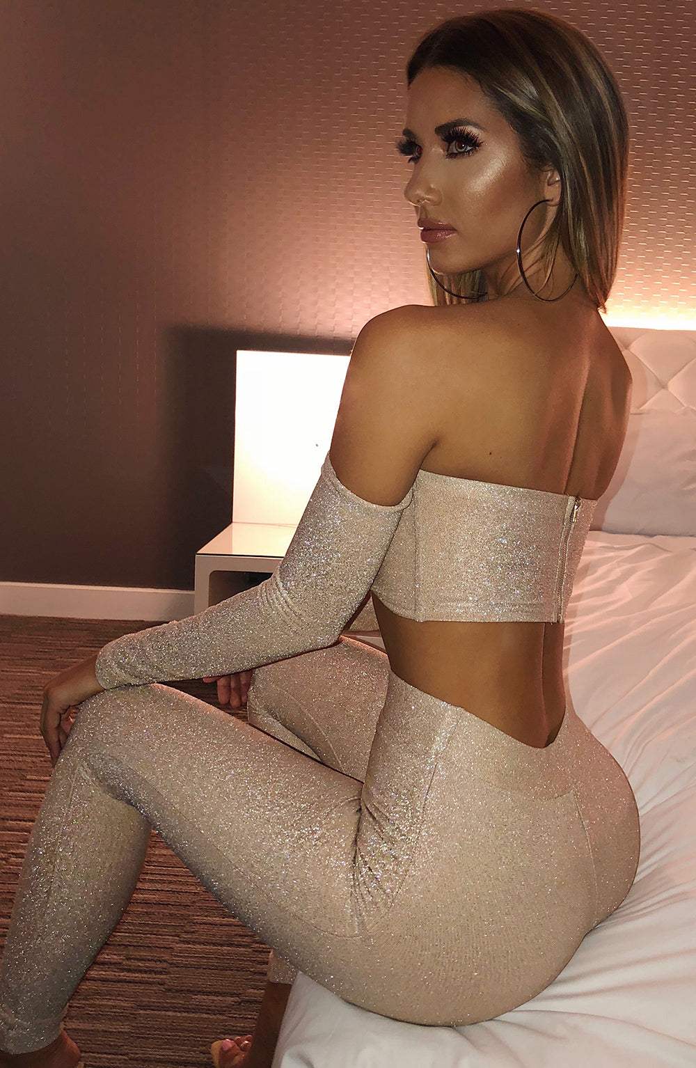 Hailee Leggings - Gold Sparkle