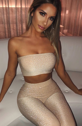 Nia Top - Gold Sparkle