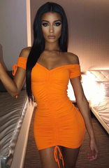 Samantha Mini Dress - Orange