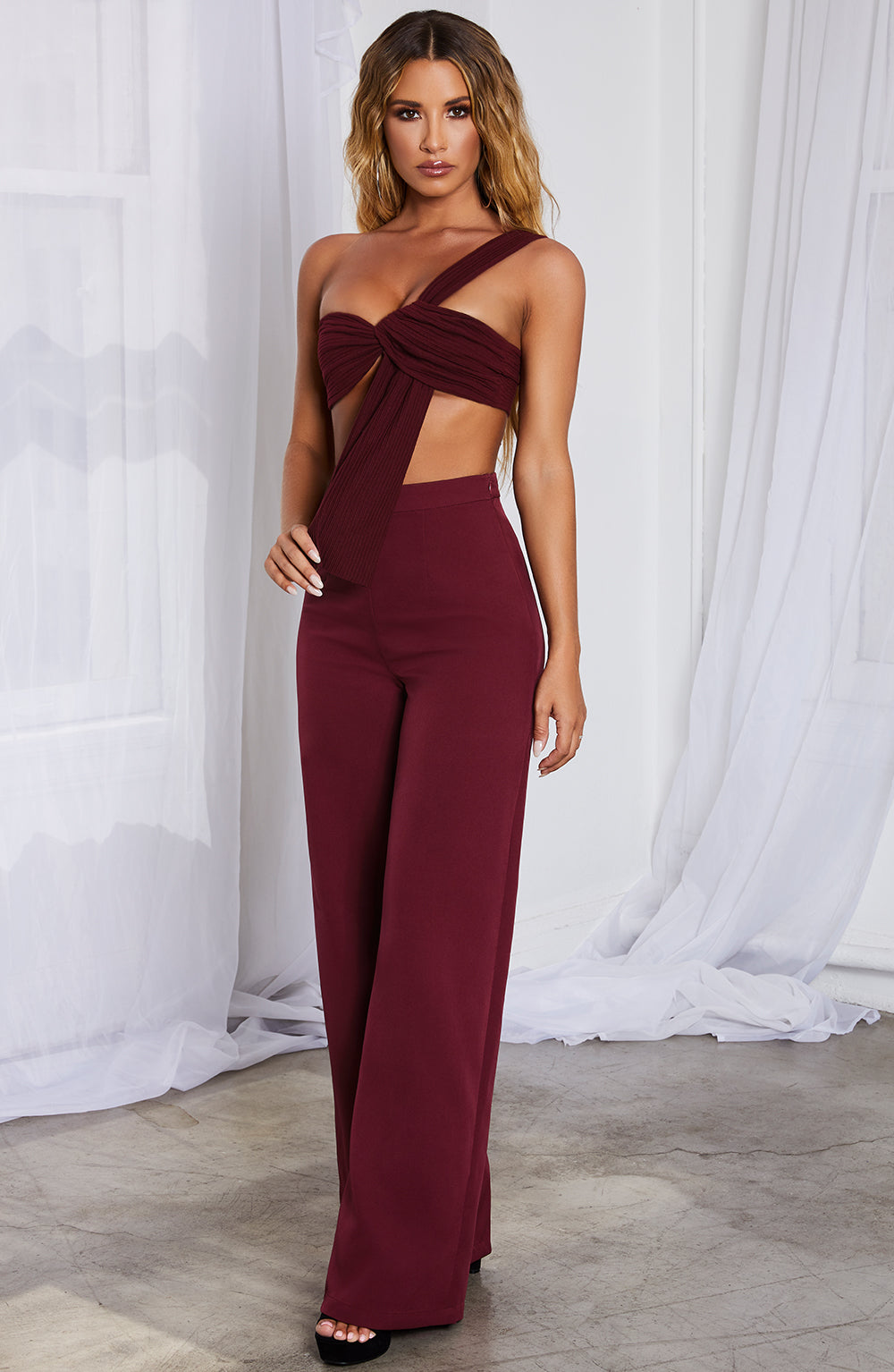 Elle Top - Burgundy