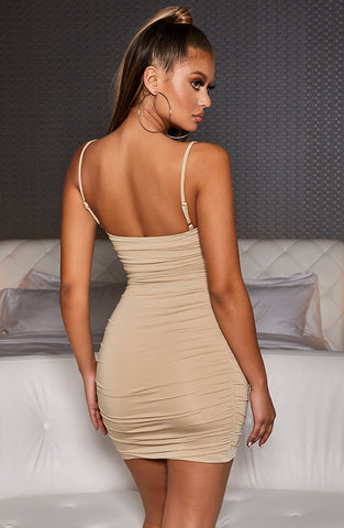Eve Mini Dress - Nude