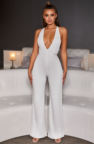 LA Bish Jumpsuit - White