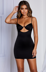 Yasmine Mini Dress - Black