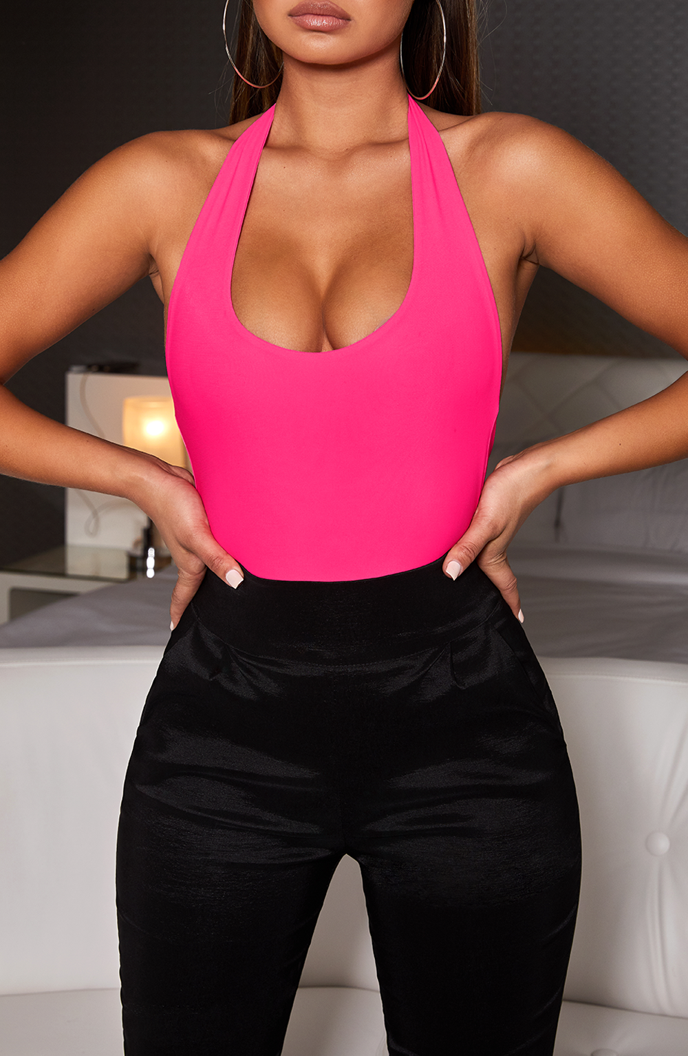 Naomi Bodysuit - Hot Pink