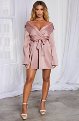 Kassiana Mini Dress - Dusty Pink