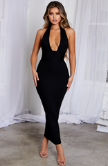 Taryn Maxi Bandage Dress - Black