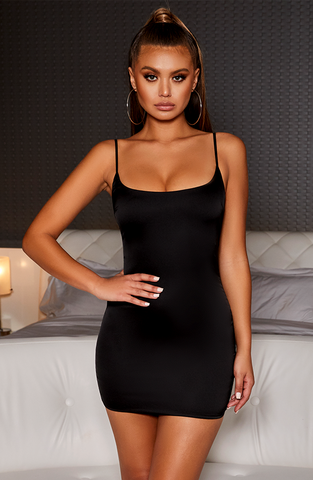 Veronika Mini Dress - Black