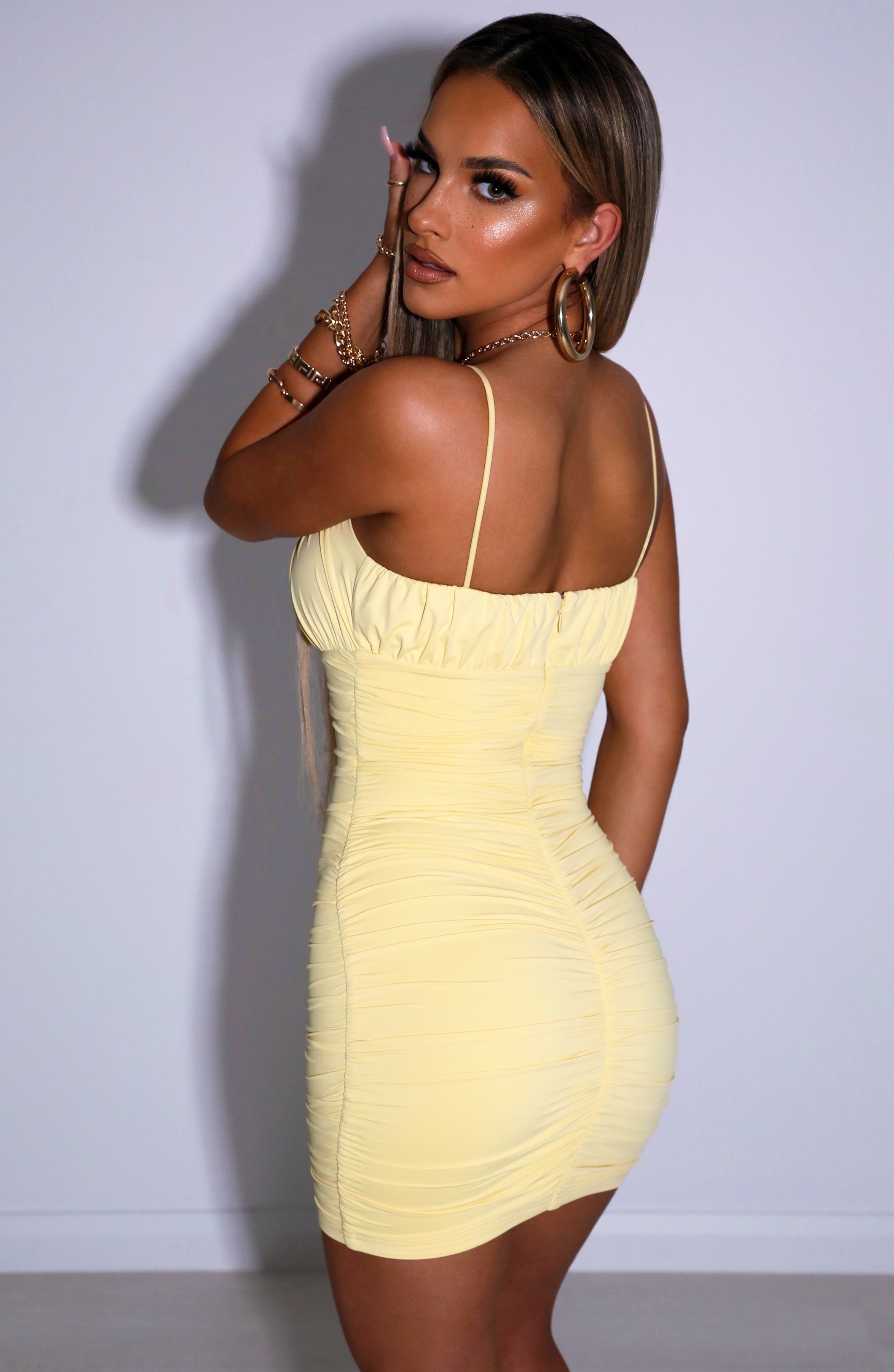 Lara Mini Dress - Lemon
