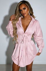 Lenette Shirt Dress - Dusty Pink