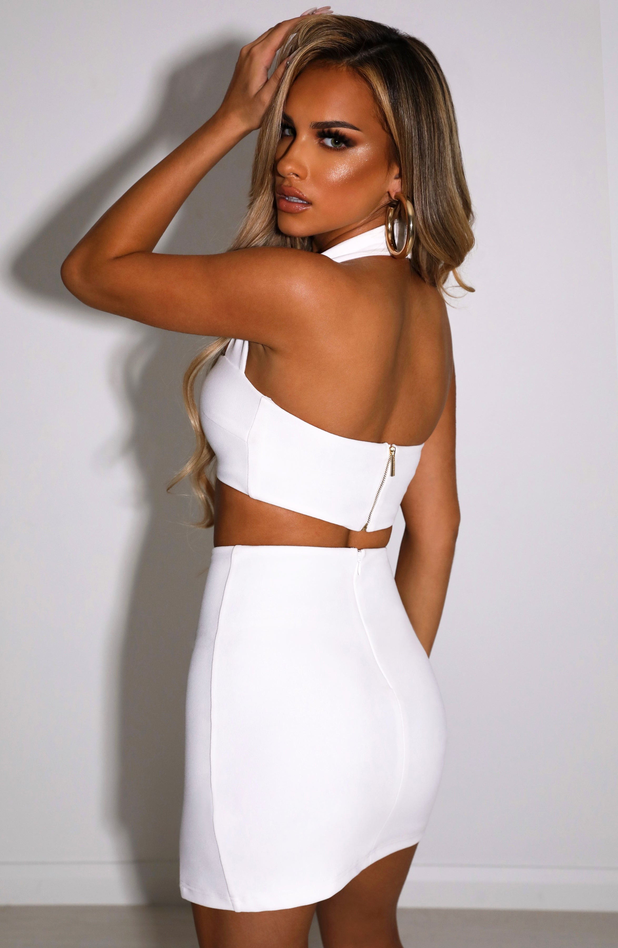 Livia Mini Skirt - White