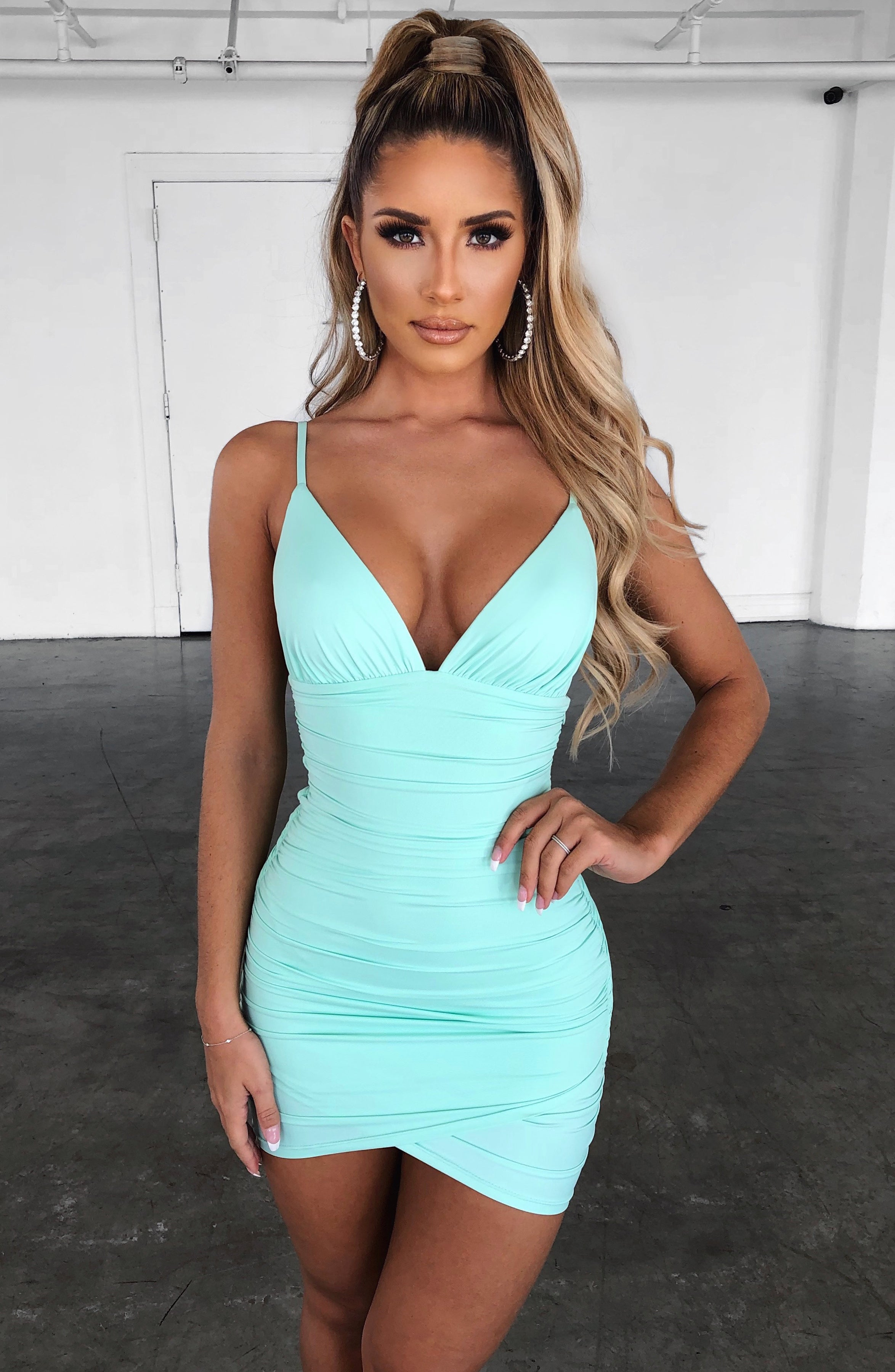 Lola Mini Dress - Mint
