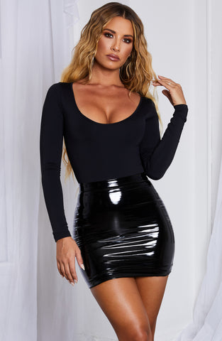 Violet Mini Skirt-Black