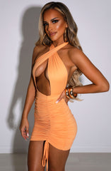 Margarita Mini Dress - Tangerine