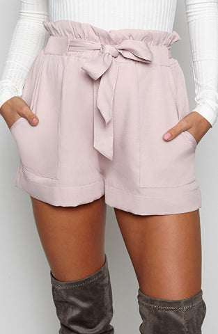 Baby Swirl Shorts - Dusty Pink