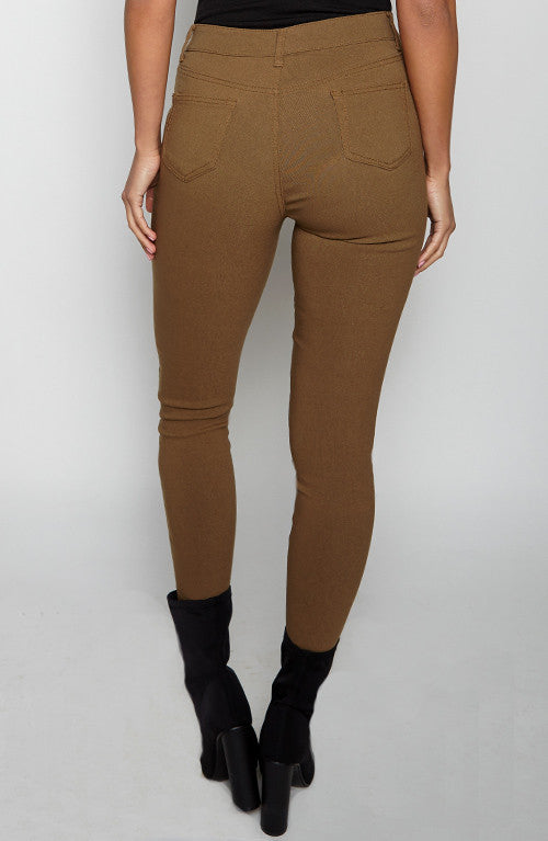 Flip Side Skinny Jeans - Brown