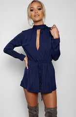 Oh My Love Playsuit - Navy