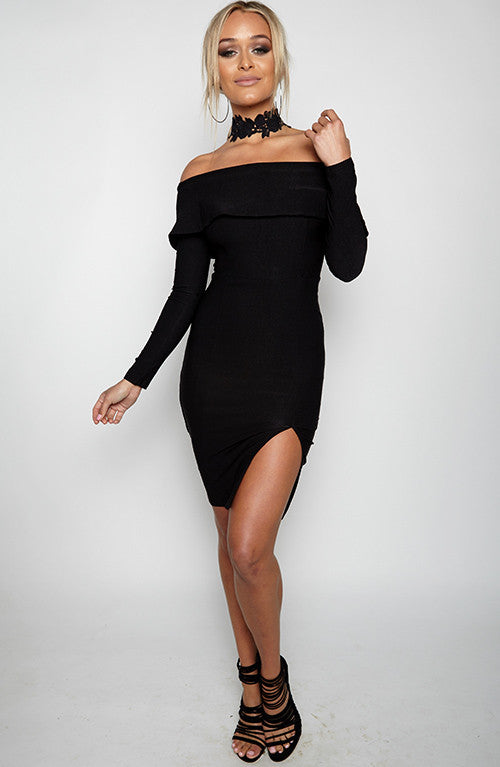 Kiss It Up Dress - Black