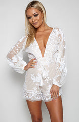Release Me Playsuit - White