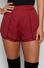 Luxury Life Shorts - Maroon