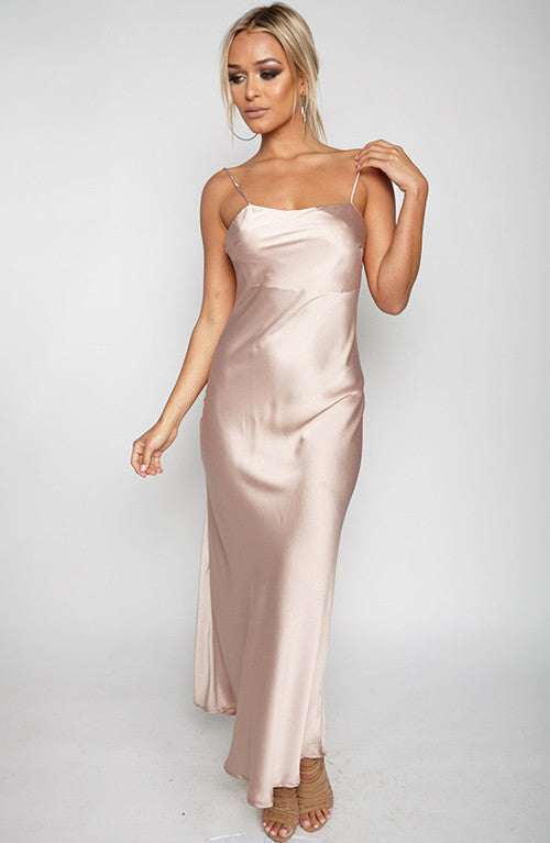 In Formation Maxi Dress - Beige