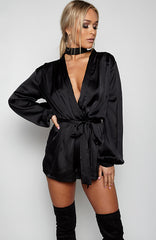 High Class Playsuit - Black