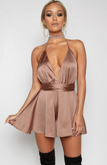 Unconditional Love Playsuit - Mocha