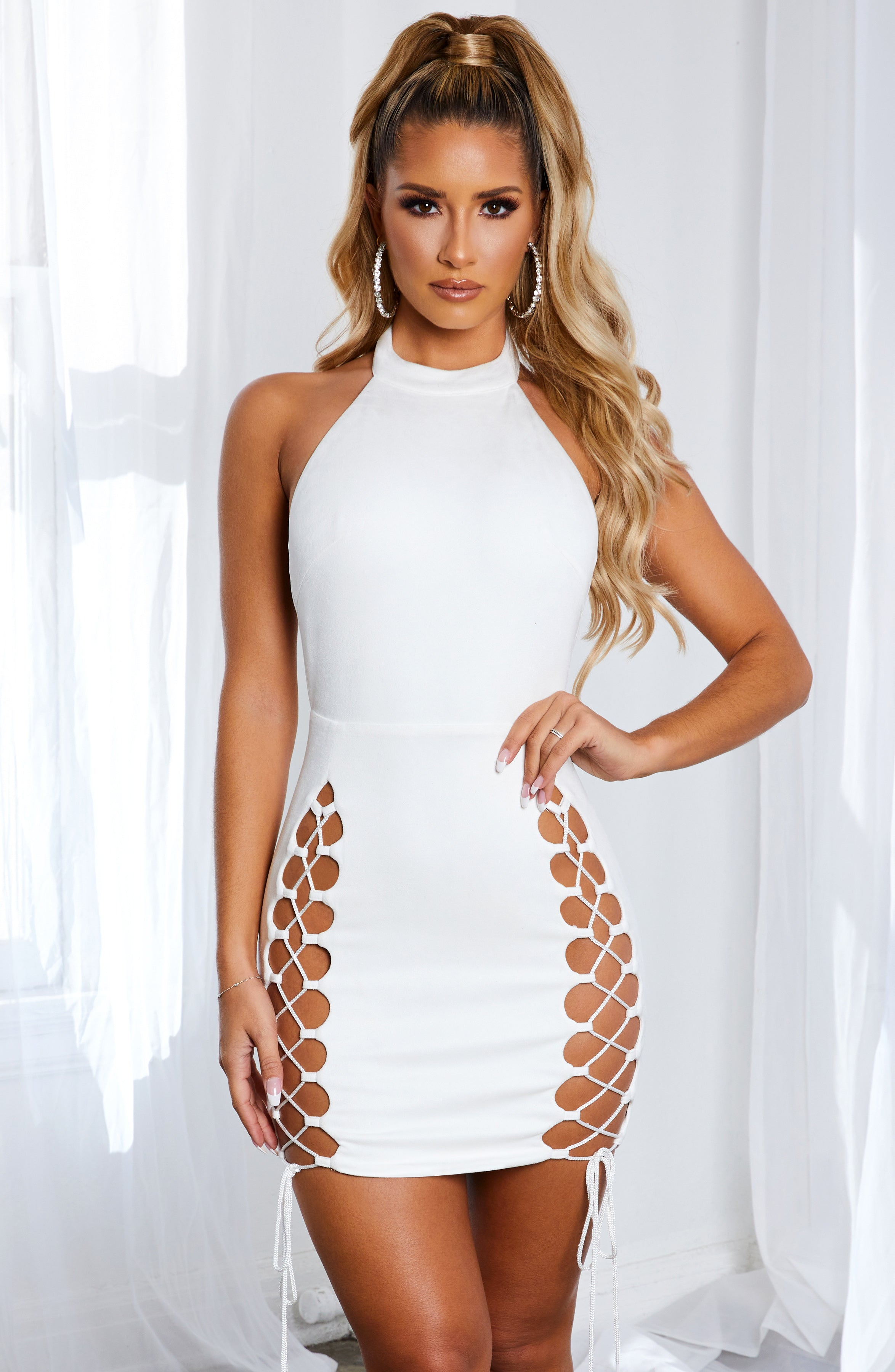 Monique Mini Dress - White