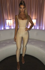 Olivia Jumpsuit - Gold Sparkle