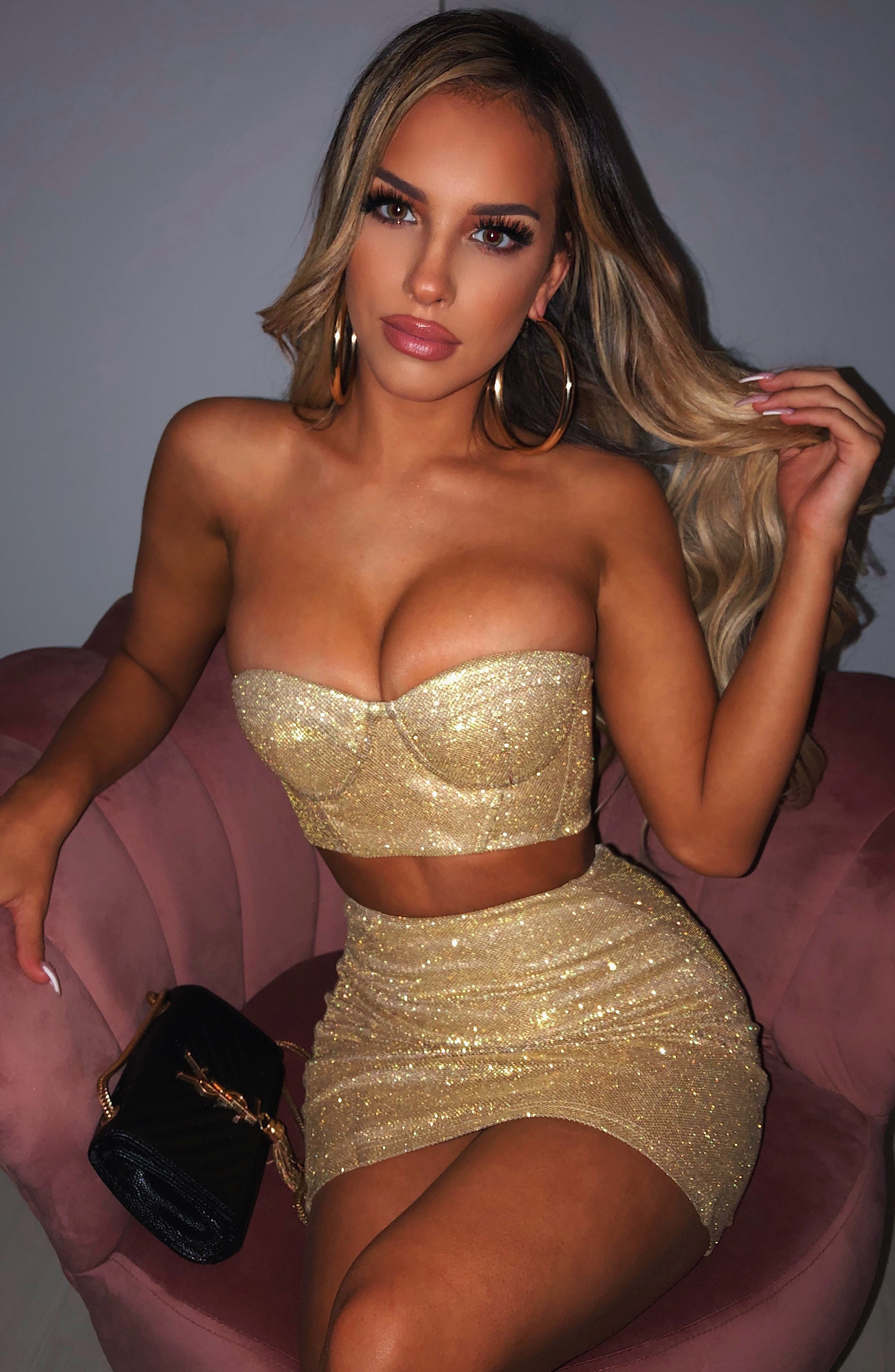 Patrice Top - Gold Glitter
