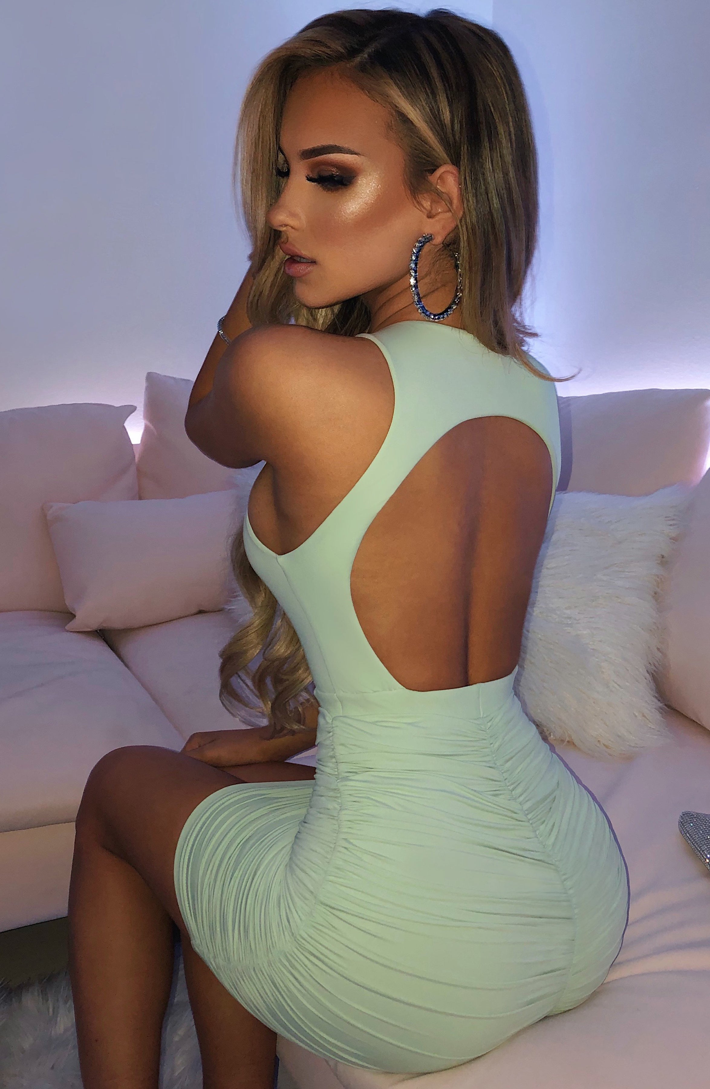 Tiana Mini Dress - Sage Green