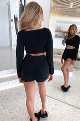 Avalon Cozy Shorts - Black